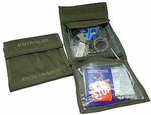 OD GREEN MOLLE SURVIVAL KIT