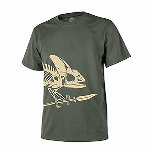 T-SHIRT FULL BODY SKELETON OD GREEN