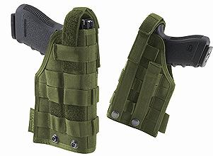 DEFCON 5 PLUS MOLLE PISTOL HOLSTER OD