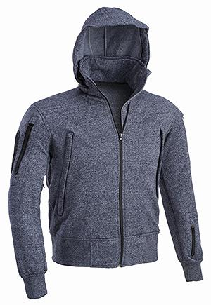 Copy of DEFCON 5 SWEATER JACKET WITH HOOD NAVY BLUE MELANGE