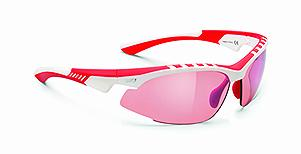 OCCHIALE RUDY PROJECT RILEY WHITE/RED SHINY - LENTI RACING RED