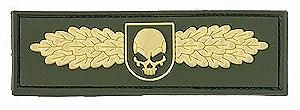 SOF SKULL BADGE PATCH GOLD