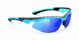 RUDY PROJECT RILEY BLUE/BLACK SHINY - MULTILASER BLUE LENSES